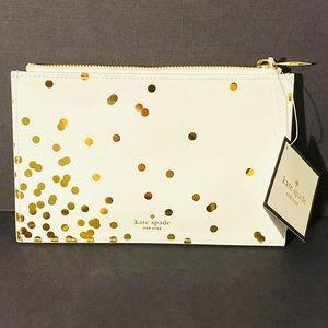 NWT Kate Spade Confetti Dot Pencil Pouch